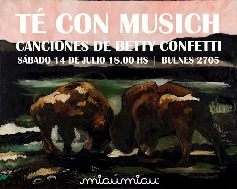 alejandro musich muestra y betty confetti