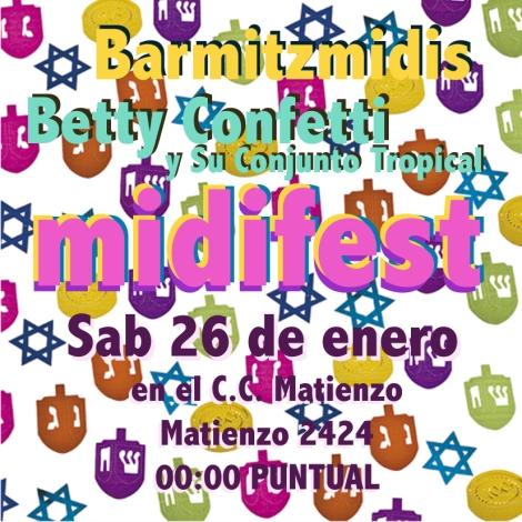 Tocamos con los Barmitzmidis en MIDIFEST 26 de enero