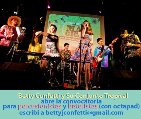 Betty Busca Baterista y Percusionistas